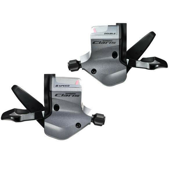 Shimano CLARIS 2X8SPD Flat Bar Shifters For Road Gear SL-2400