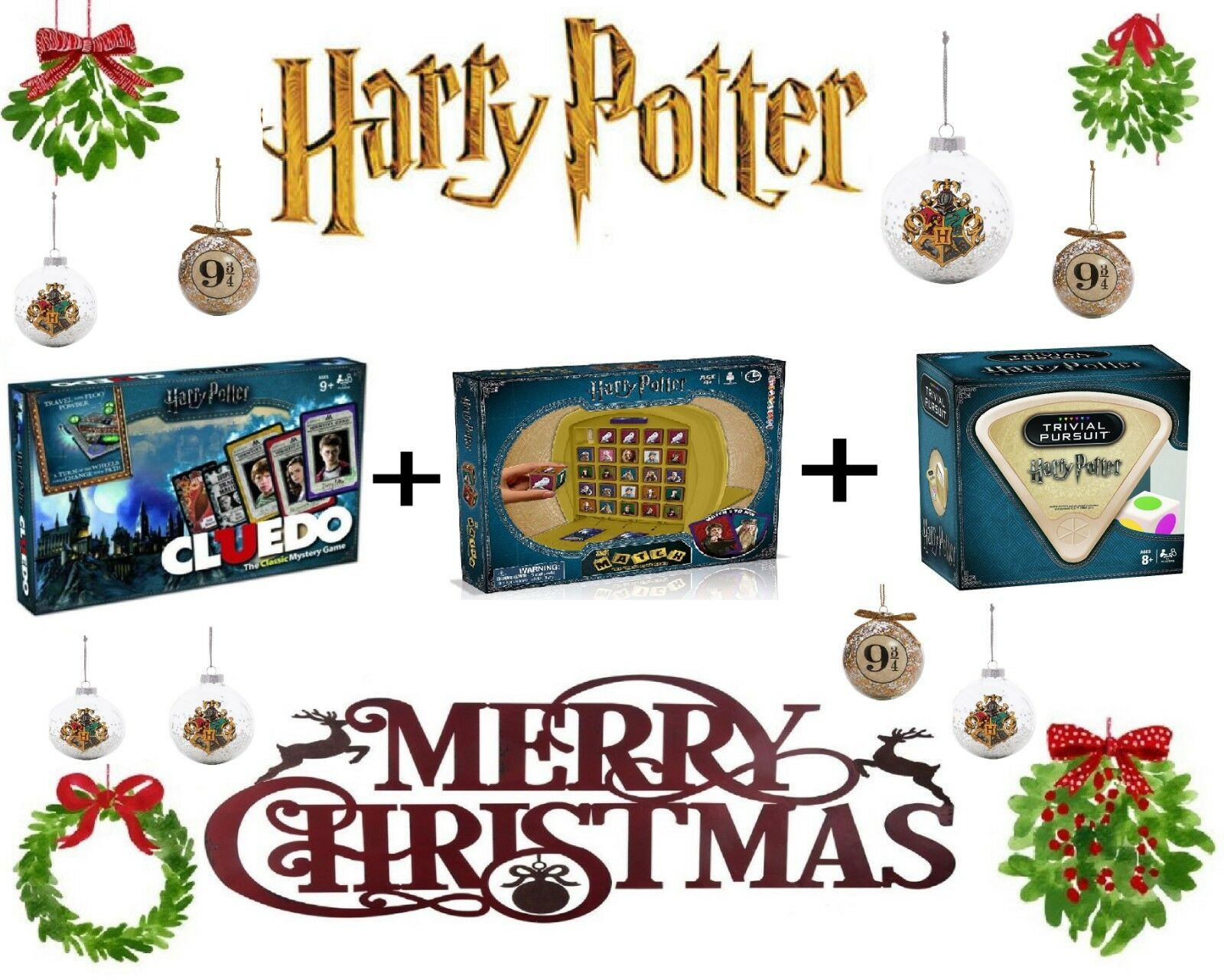 Harry Potter Gift - Trivial Pursuit     Cluedo   Match Cube - 2018 2019 XMAS Gift d974eb