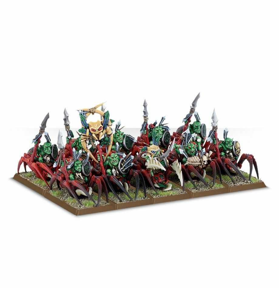 Warhammer Age of Sigmar Grouge Grouge Grouge Spider Riders plastic box new 0a272b