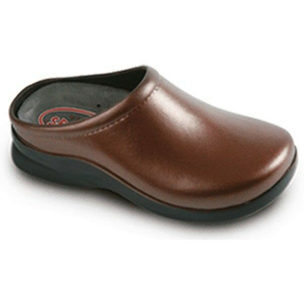 KLOGS DUSTY CHESTNUT BROWN 5 N NEW  60 Donna CLOGS LOAFERS NURSE COMFORT
