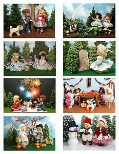 Vintage Ginny Doll /'Ginny /'School Days/' Greeting Cards 8 cards
