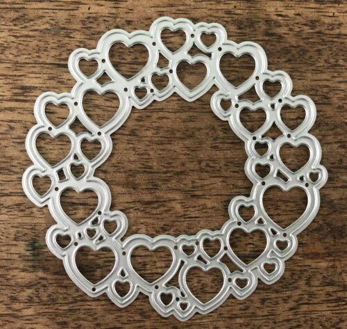 X31 Metal Cutting Die-Grand Coeur Couronne Circle of Love