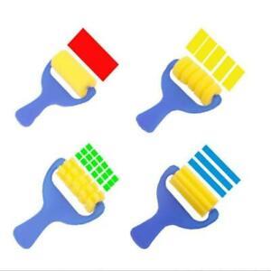 4pcs-Sponge-Paint-Roller-Brush-DIY-Painting-Brushes-Kids-Art-Craft-Tool