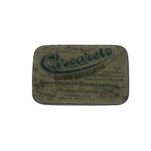 Vintage Medicine Tin Cascarets CANDY CATHARTIC PLEASANT DELIGHTFULLY EFFECTIVE