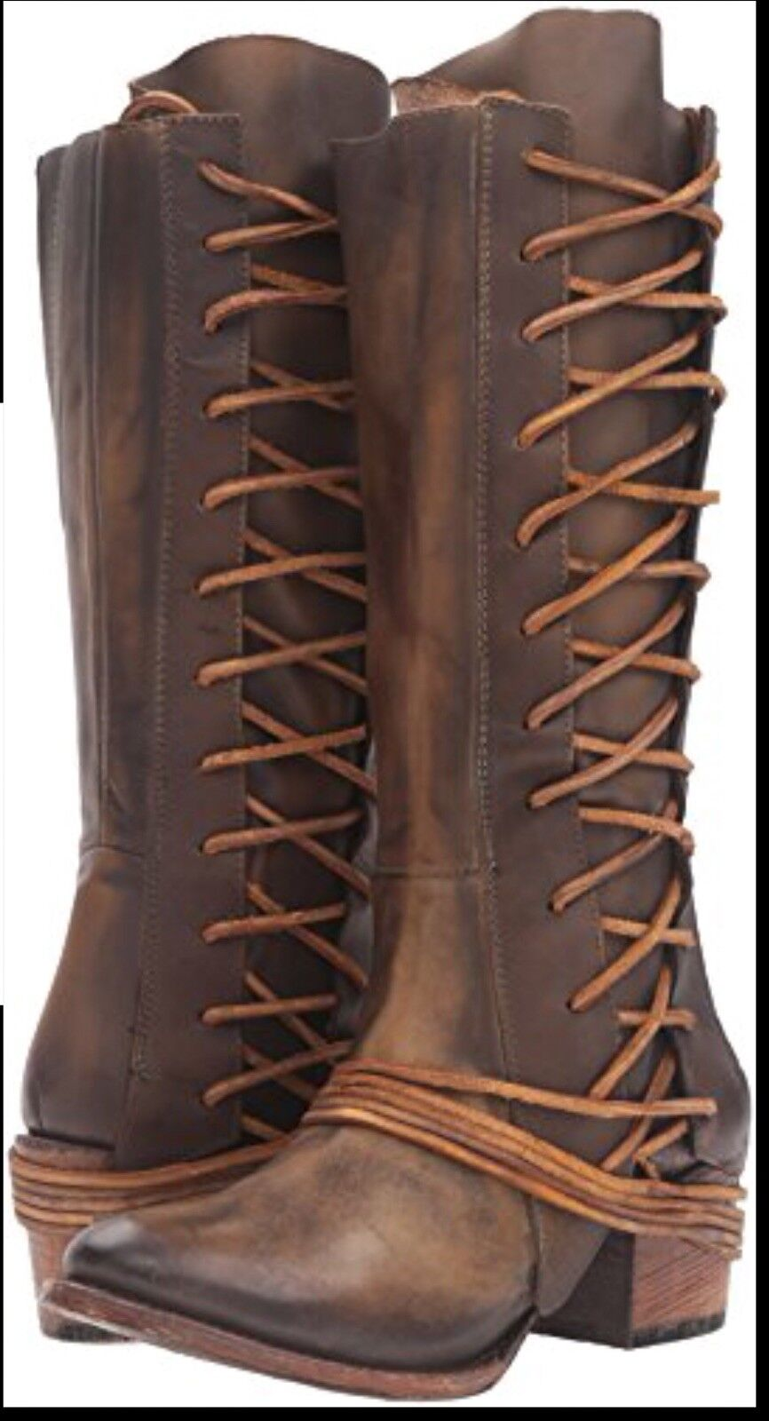NIB FREEBIRD by Steven Cash Olive  Leather bottes 10SZ  NIB