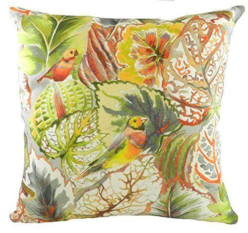 ddc85116b78 Evans Lichfield Summertime Pebble Tropical Birds Filled Cushion