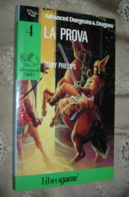 librogame Advanced D&D n.4  LA PROVA di Terry Phillips 1ed. 1988 E. Elle