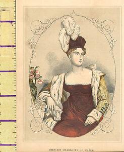 C1860-Vittoriano-Stampa-Principessa-Charlotte-Di-Galles