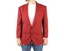 Vintage 80s Blazer 40S Dark Rust Red Sports Coat Jacket Disco Costume Wool Blend