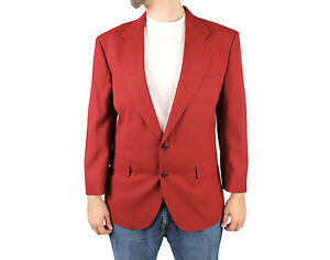 vintage 80s blazer 40s dark rust red sports coat jacket disco