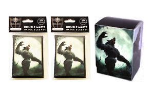 100-Werewolf-MTG-Double-Matte-Image-Sleeves-plus-Deck-Box-For-Pokemon-Magic