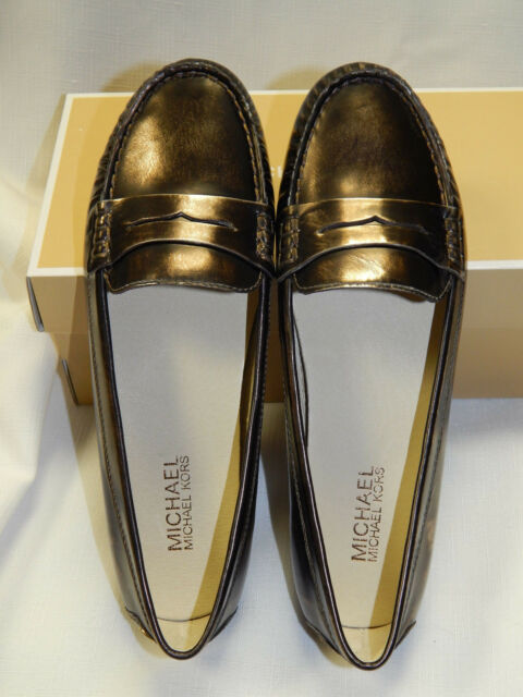 d831f7a5022 Michael Kors Daisy Loafer Bronze Metallic Leather Women s Shoes 7m ...
