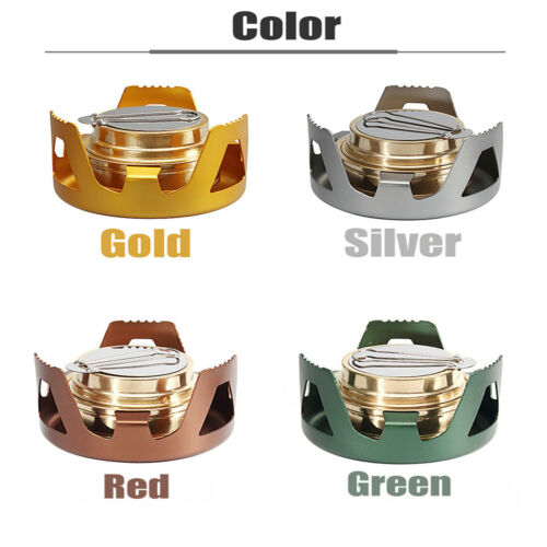 Outdoor Mini Portable Alcohol Stove Burner for Backpacking Hiking Camping Picnic