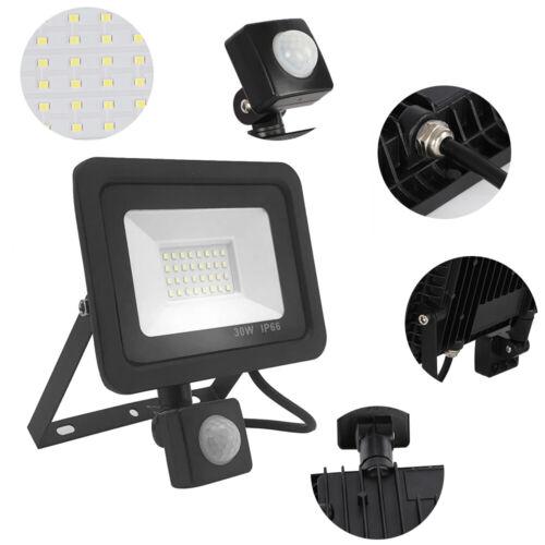 Outdoor Security Light Flood LED with PIR Motion Sensor Floodlight 10//20//30//50W
