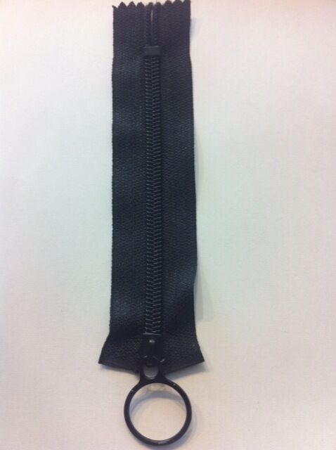 "Nylon Coil Zippers,#5 with Ring Pull - 5"" black (10 pices) great for beer cooler"