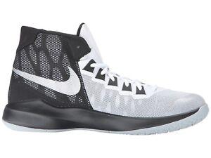 1e56ba7c24f0 Mens Nike Zoom Devosion Basketball Shoes Size 9.5 - 13 White Black ...