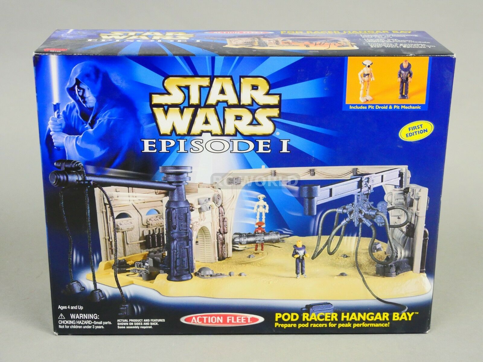 Star Wars Action Fleet POD RACER HANGAR BAY Play Set -NEW-  rk1