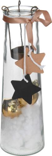 Noël photophore verre /& cuivre tea light holder décorations de noël