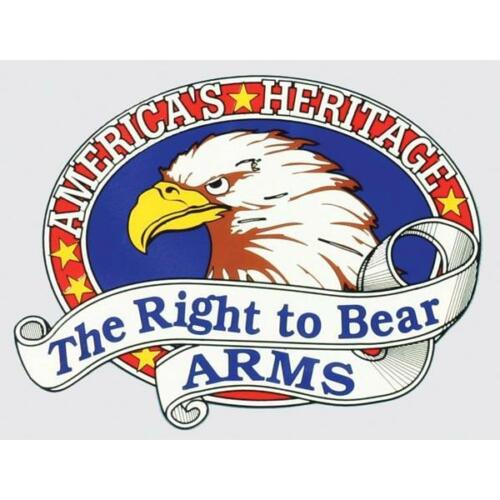 America/'s Heritage Right to Bear Arms Patriotic Car Window Decal