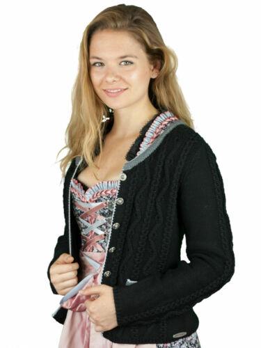 Spieth/&Wensky Trachtenjacke Dorle schwarz grau Strickjacke Damen Gr.S-XXL Tracht