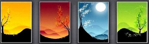 CHOP297 4pcs 100/% hand-painted home landscape art oil painting on canvas