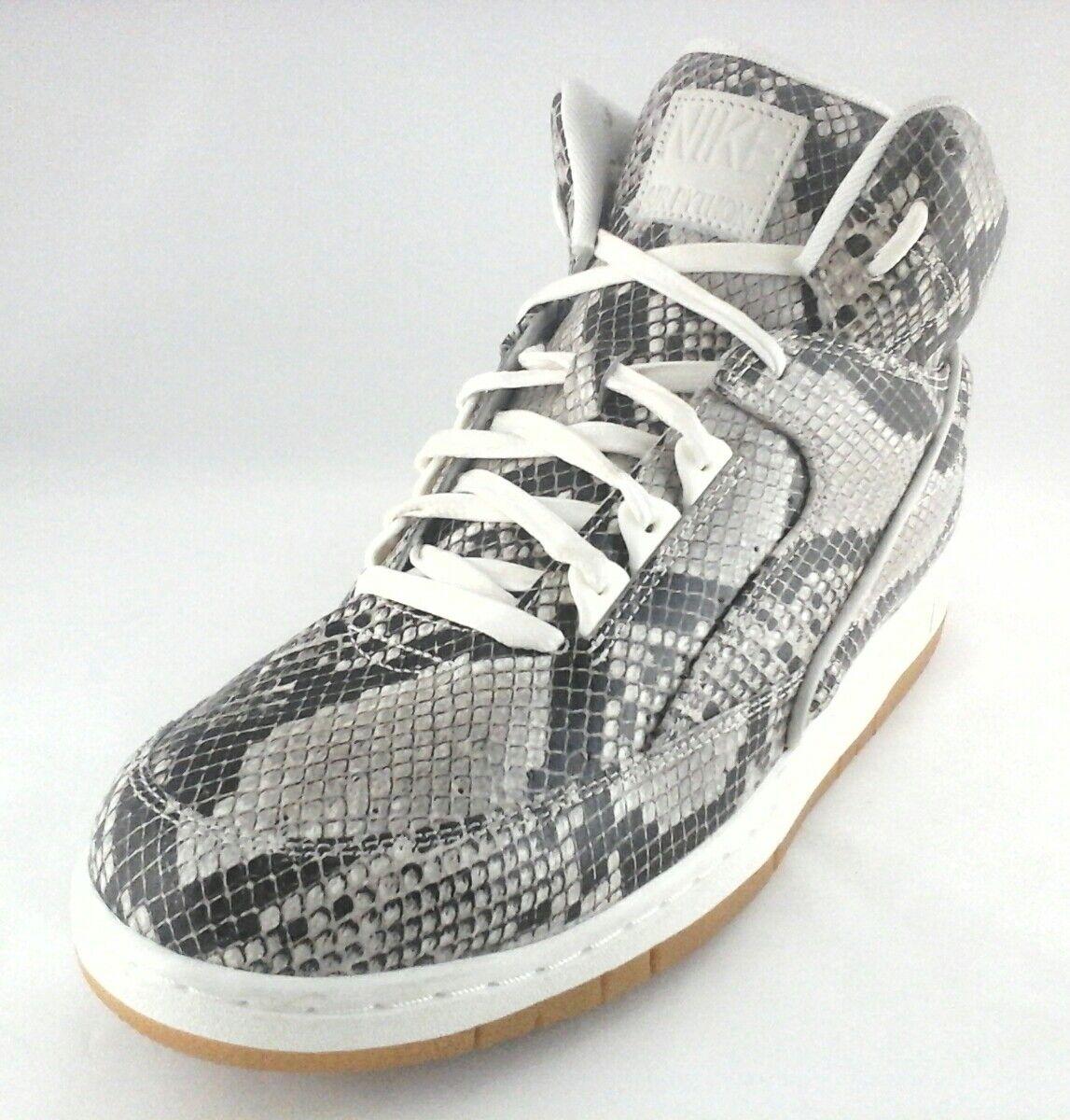 Nike Air  705066-201 Python Premium Mens Cream Snakeskin Print Gum Shoes 11.5