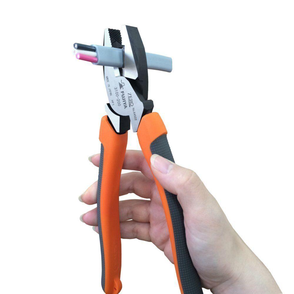 FUJIYA Power Cut Pliers Electricians Side Cutters Heavy Duty Japan 3100-175,200
