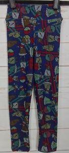 e192cf84c LuLaRoe Kids Christmas Leggings Blue S/M Small Medium NWT - A2590 | eBay