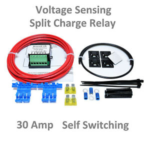 MOTOR-HOME-SELF-SWITCHING-VOLTAGE-SENSING-SPLIT-CHARGE-RELAY-KIT-12V-30-AMP
