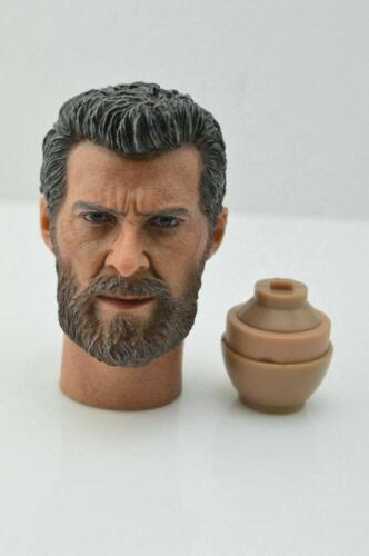 1//6 Wolverine testa con collo VECCHIO Hugh Jackman per Logan X-Man Hot Toys