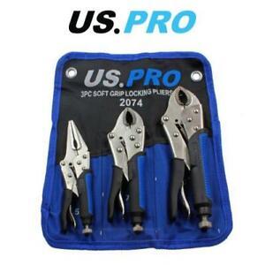 US-PRO-Tools-3pc-soft-grip-di-bloccaggio-Pinze-Set-6-5-7-10-034-mole-Grip-2074
