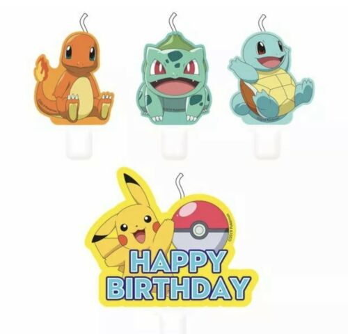 4 Pokemon  Happy Birthday candles Pikachu New Design