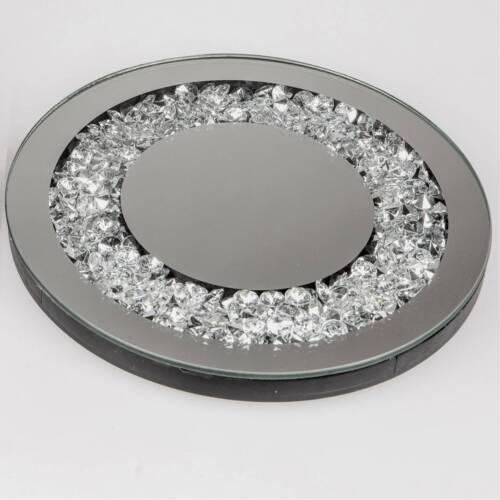 Miroir Plaque déco de table miroir mirror Stones D 20 cm argent d/'Art Formano