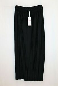 SUPRE-Brand-Black-Pleated-Maxi-Skirt-Size-XS-BNWT-RG78