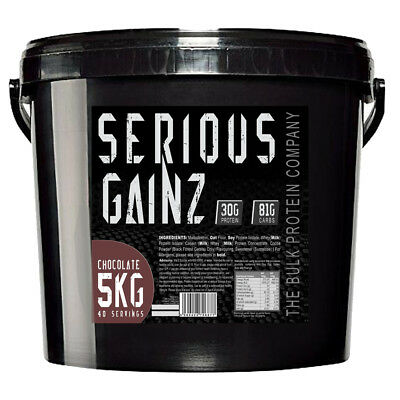 Serious Gainz Weight Gainer 5kg Muscle Mass Gain Protein Powder Shake Chocolate