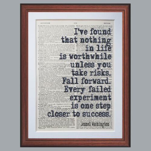 Charlie Chaplin quote dictionary page art print reading books literary gift