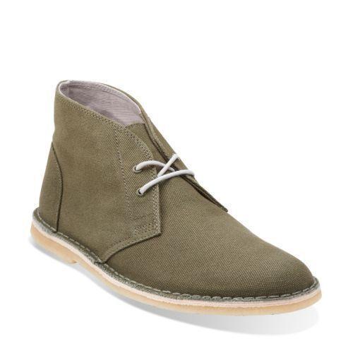 Clarks Originals Deserto Jink verde/in Unito/NUOVO tela misura 12 Regno Unito/NUOVO verde/in 7ea850