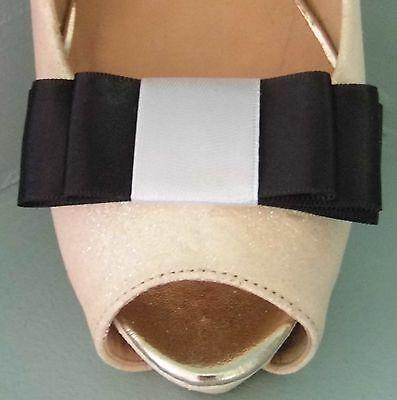 2 Clips Para Zapatos Arco Triple Negro con Banda Blanca-otros colores a petición