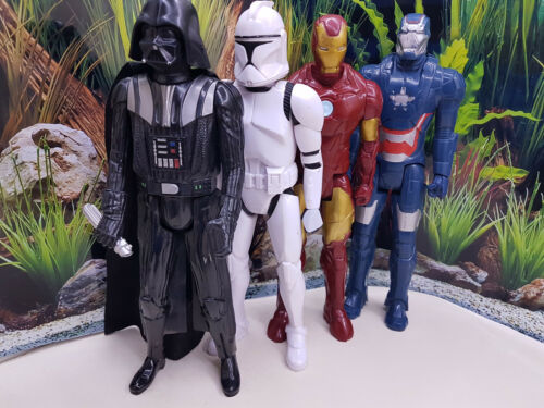 "12/"" Star Wars Power Of Force Action Figures Darth Vader Avengers Action Heroes"