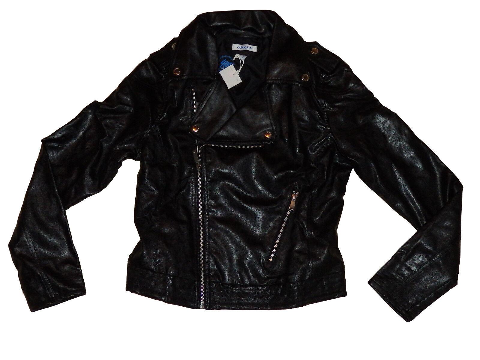 Adidas señora chaqueta de cuero faux  Leather bi nuevo a2-23  barato en alta calidad
