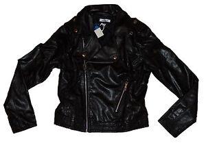 adidas Damen Leder Jacke FAUX LEATHER BI NEU A2 23   eBay