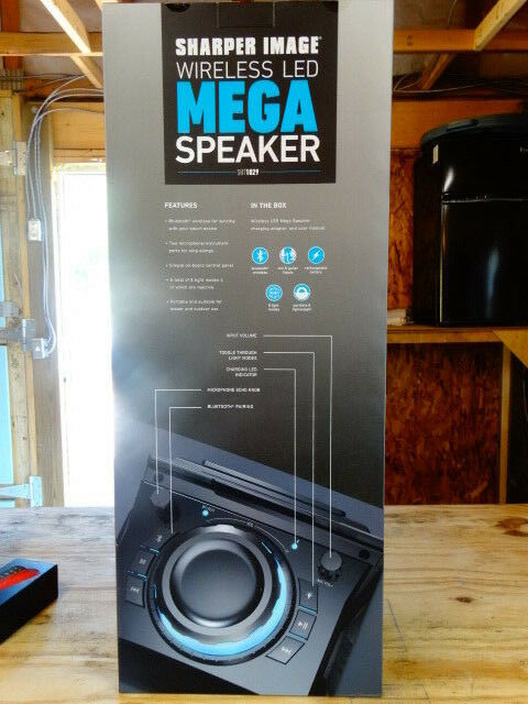 Sharper Image Sbt1029bk Led Tower Speaker Ebay