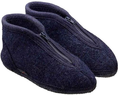 Donna Blu Con Unisex Pantofole Zipper Cerniera Pura Lana Uomo Kapitän Haflinger qBwUSg