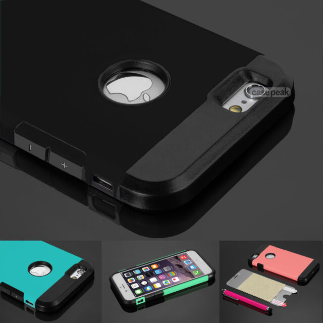 "Hybrid Shockproof Cover Hard Rugged Rubber Case For Apple iPhone 6 4.7"" 5.5"