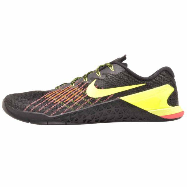 4eac44cd0683 Nike Metcon 3 Cross Training Mens Shoes Black Volt 852928-012