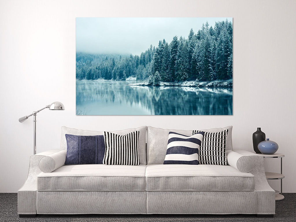 3D Forest Lake 59 Wall Stickers Vinyl Murals Wall Print Decal AJSTORE UK Lemon