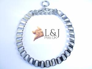 Fuerte-Cromo-Semi-comprobar-la-mitad-de-choque-con-Cadena-Perro-Collar-de-ahogo-Metal-Gargantilla