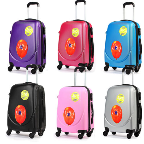 Coque rigide cabine valise valise trolley 4 roues Luggage Spinner Ultra Léger