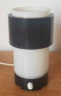 -leuchte Tisch Zylinder Aus Kunststoff Und Plexiglas Jahre 60