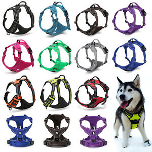 Truelove-Dog-Puppy-Harness-Adjustable-3M-Reflective-Padded-5-Sizes-11-Colours